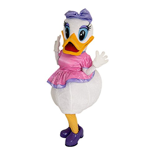 Daisy Duck Mascot Party Costume Adult Size Deluxe Outfit Halloween Cosplay (Daisy Duck Costume Adults)