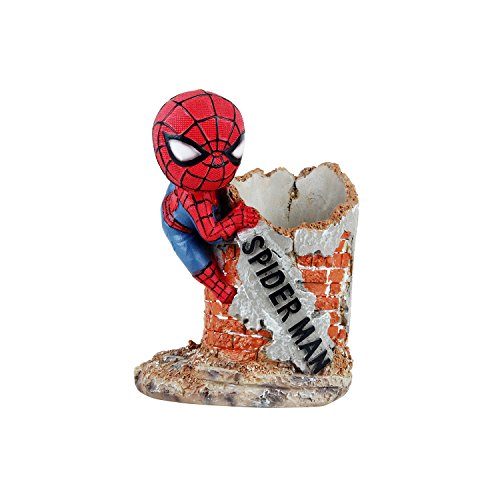 Wowheads Spiderman Penstand Miniature Figurine Stationery D Cor Marvel Avengers Collectible  Fragile Resin Made
