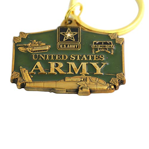US Army Keychain Military Collectibles Patriotic Xmas Gifts Men Women Veterans