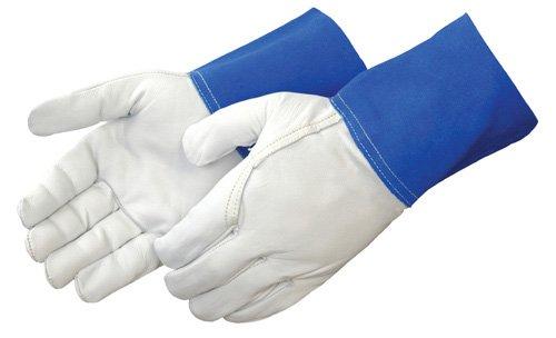 Liberty 7814 Premium Grain Goatskin TIG Welder Gunn Pattern Glove with 4