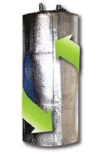 Reflective Water Heater Jacket Insulation Fits 50 Gallon Tank R Value 6 (Tape) -