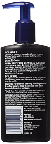 Biore Deep Pore Charcoal Cleanser 6.77 oz (Pack of 10) ()