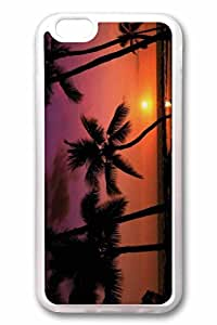 iPhone 6 Case, Personalized Custom Rubber TPU Clear Case Cover Tropical Sunset 2 for New iPhone 6