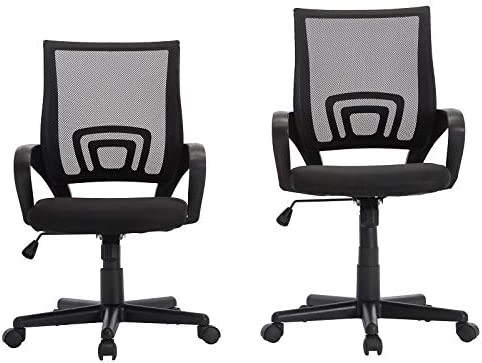 Pemberly Row Set of 2 Ergonomic Adjustable Mesh Computer Desk Chair