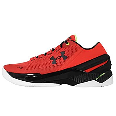 Under Armour UA Curry 2 Low Mens Basketball Trainers 1264001 Sneakers Shoes (US 10.5, red black 984)