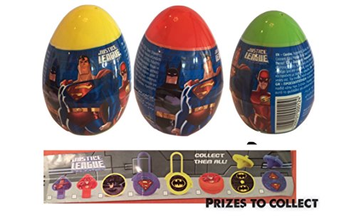 New 3 JUSTICE LEAGUE BATMAN SUPERMAN plastic surprise eggs ()