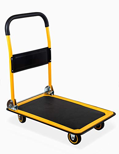 "MaxWorks 80876 28.75"" x 18.75"" x 33"" Foldable Platform Truck Push Dolly-330 lb. Weight Capacity-with Swivel Wheels"