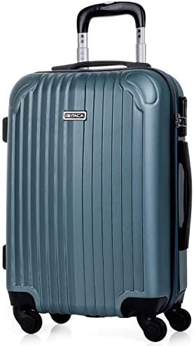 ITACA - Maleta de Viaje Cabina Rígida 4 Ruedas 55 cm Trolley ABS. Equipaje de Mano. Pequeña Resistente Cómoda y Ligera. Low Cost Ryanair. Estudiante. ...