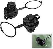 2 PCS Air Valve Replacement, Kayak Raft Plug Replacement, Inflatable Boat Spiral Air Plug, Air Mattress Plug R