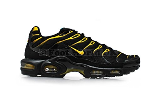 Nike Air Max Plus TN black tour yellow dynamic blue 074