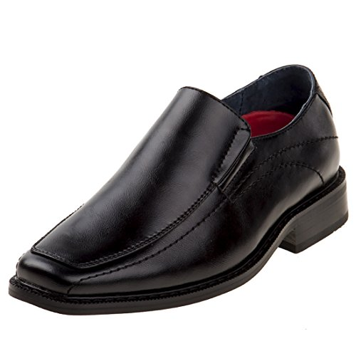 Joseph Allen Boy\'s Slip On Dress Shoe, Black, 6 M US Big Kid'