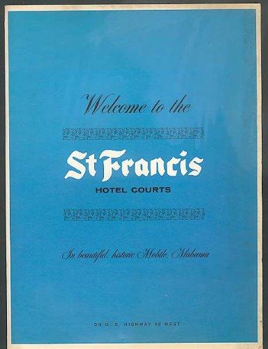 Stationery Folio - St Francis Hotel Courts Welcome folio w/ stationery 50s
