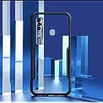 REALCASE Clear Case Gel TPU Bumper Back Cover for Tecno Spark 7 Pro (E-Blue)