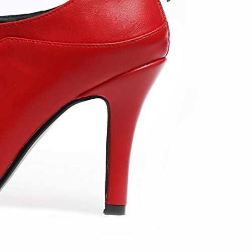 Urethane Shoes Pumps No Red SDC03706 AdeeSu Pointed Closure Tuxedo Womens Toe Urethane wXRxSUfqC