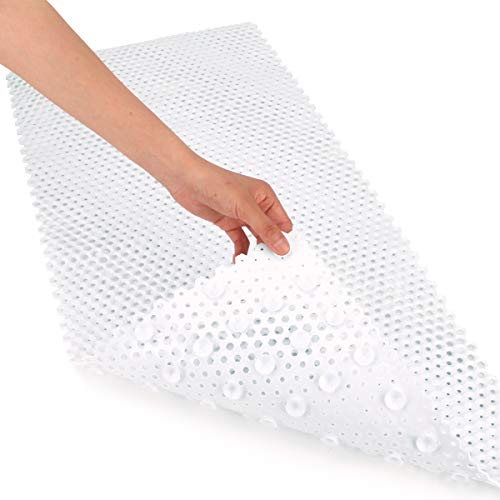 Yimobra Patented Design Bath Tub and Shower Mat Extra Long 35 x 16 Inch,Phthalate Free,Latex and Machine Washable Materials (35 x 16 Inch, White)