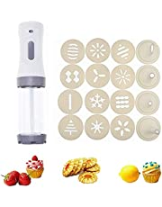 OZiO Electric Cookie Press Gun, Biscuit Cookie Maker Kit Electric Cookie Decorating Tool with.DIY Cookie Maker and Cake Decoration Perfect for DIY Cookie Maker (Grey)