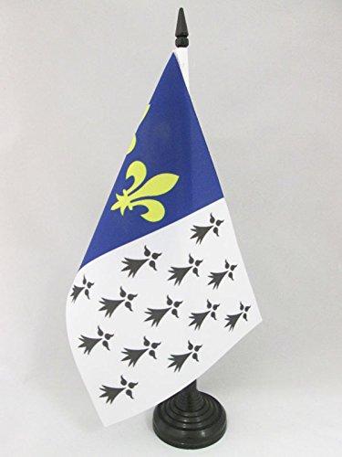 AZ FLAG Drapeau DE Table Brest 21x14cm - Petit Drapeaux DE Bureau BRESTOIS - Bretagne 14 x 21 cm