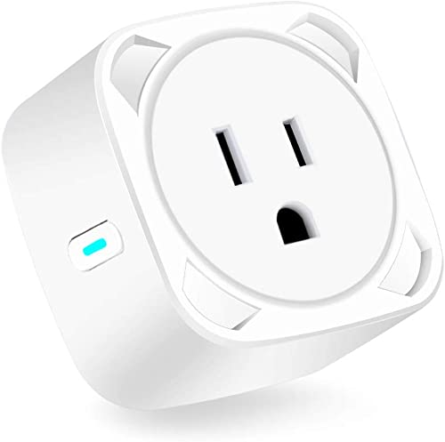 Aigital Smart Plug Mini Socket Outlet Compatible with Alexa Google Assistant IFTTT,Remote Control from Anywhere,Overload Protection and Timer Function,ETL and FCC Listed Upgraded Version
