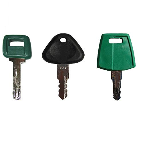 (Set of 3 Volvo Keys - Heavy Equipment Key Set w/Laser - Excavator-Loader-Truck)