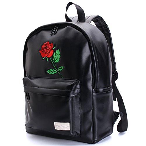 Backpack for Bag Flower PU Large Desigener Fashion Backpack Travel Women Ladies Soft Women Waterproof Rucksack Shopping Rose Gracosy Leather School Rose Handbag Girls Bag AvxYPwvfRq