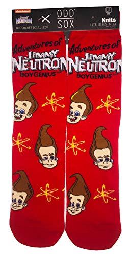 Adult Odd Sox Adventrues Of Jimmy Neutron Boy Genius Size 6-13