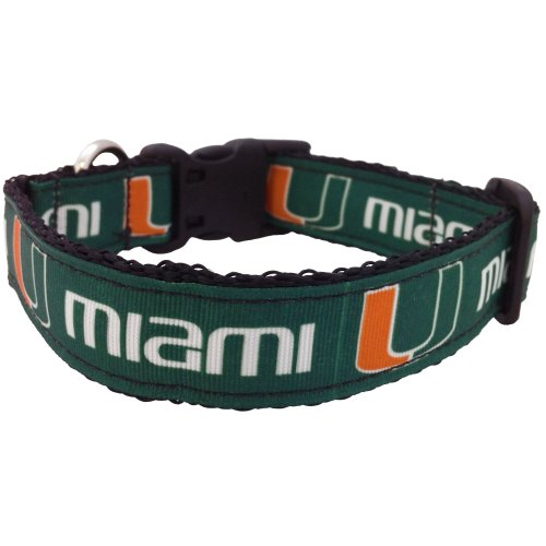 All Star Dogs NCAA Miami Hurricanes Dog Collar, Large