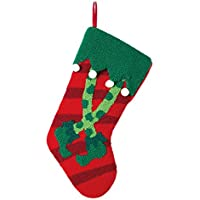 Glitzhome Elf Legs Rug-Hook Stocking