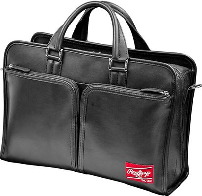 Rawlings Heart of the Hide Briefcase, Black (Baseball Glove 12' Leather)