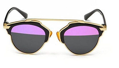 GAMT New Designer Cateye Polarized Sunglasses for Women Classic Style Gold Frame Pink - Sunglasses Cheap Cateye