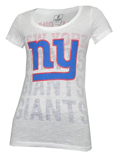 Womens New Pink T-shirt York (Pink Victoria's Secret NY Giants Womens T Shirt L White)