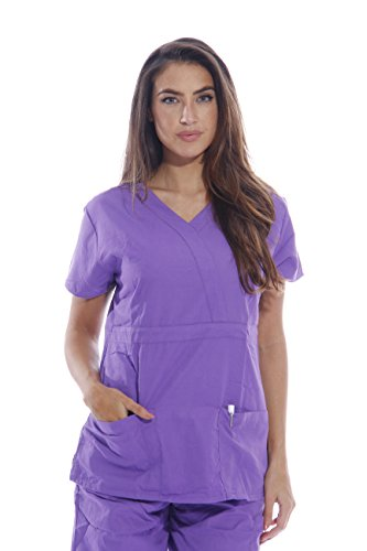 23302W-T-M Dreamcrest Scrub Tops / Scrubs Purple