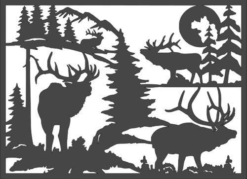 Super_deals_USA 1-8x11 inch Stencil, Deer Wildlife (rs-6)