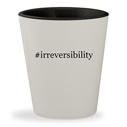 Price comparison product image #irreversibility - Hashtag White Outer & Black Inner Ceramic 1.5oz Shot Glass
