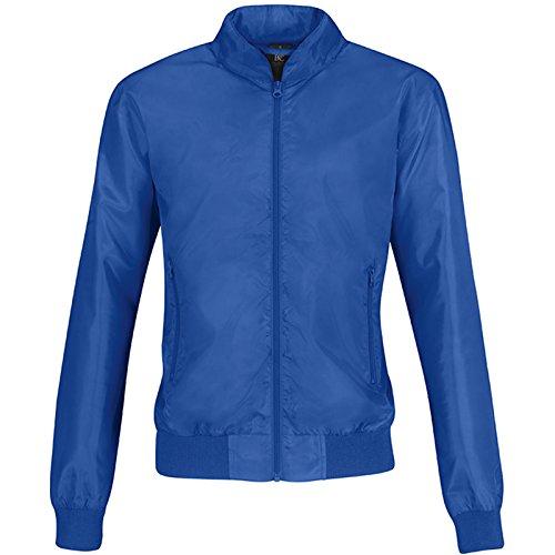 B&C Collection - Chaqueta - para mujer Royal Blue/ Neon Orange Lining