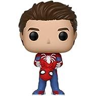 Funko Pop Marvel Games: Spider-Man Video Game - Unmasked Spider-Man Collectible Figure, Multicolor