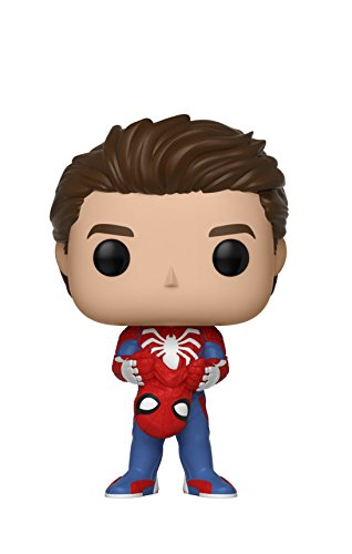 Funko Pop Marvel Games: Spider-Man Video Game - Unmasked Spider-Man Collectible Figure, Multicolor ()