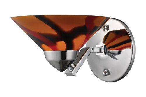 (Elk 1470/1JAS 1-Light Sconce In Polished Chrome with Jasper Glass)