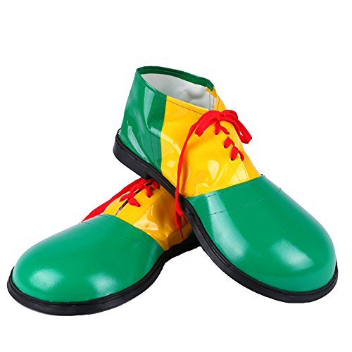 Honeystore Unisex Jumbo Large Clown Shoes Halloween Costumes Accessories Green -