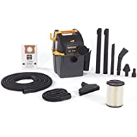 WORKSHOP Wet Dry Vacs WS0501WM Portable Wall Mount Wet Dry Shop Vacuum for Auto, Garage and In-Home with Car Cleaning Kit, 5 Gallon, 5.0 Peak HP