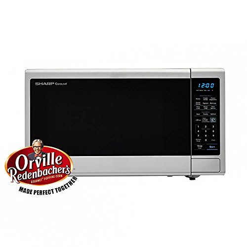 Carousel 1.4 Cu. Ft. 1000W Countertop Microwave Oven with Orville Redenbachers Popcorn Preset