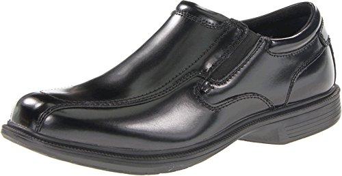 (Nunn Bush Men's Bleeker St Slip-On Loafer, Black, 14 M US)