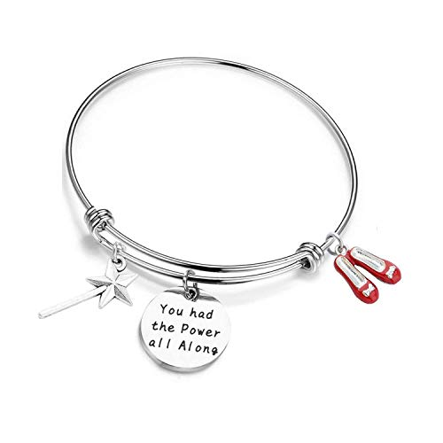 KUIYAI Good Witch Quote You had The Power All Along Bracelet Fandom Jewelry Inspirational Gift (Bracelet)]()