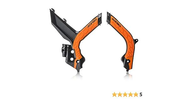Acerbis X-Grip Frame Guards Black//16 KTM Orange for KTM 450 SX-F Factory Edition 2014-2017