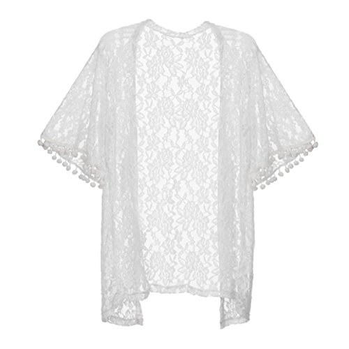 Clode® Beach Cover Up, Fashion Womens Summer Open Cape Casual Coat Lace Kimono Beach Cover Up