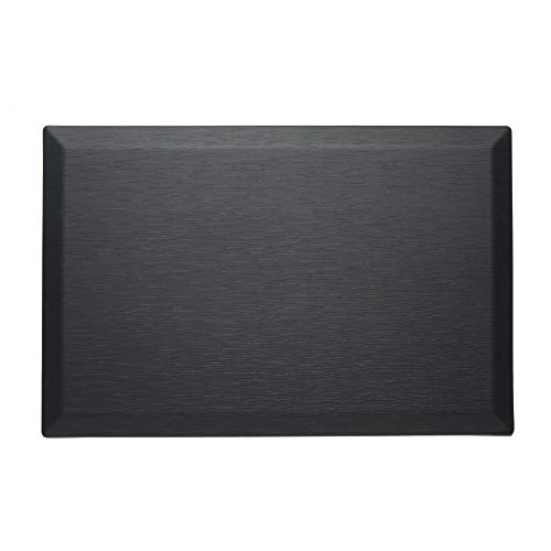 Imprint CumulusPRO Commercial Couture Strata Series Black Jasper Anti-Fatigue Comfort Mat, Office Mat, Stand up Desk Mat 24 in. x 36 in. x 3/4 in.