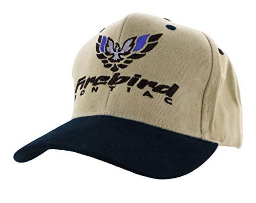 (Gregs Automotive Pontiac Firebird Hat Cap Blue/Khaki - Bundle with Driving Style Decal)