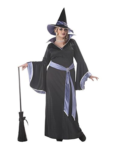 California Costumes Women's Plus-Size Incantasia The Glamour Witch Plus, Black/Purple, 3X ()