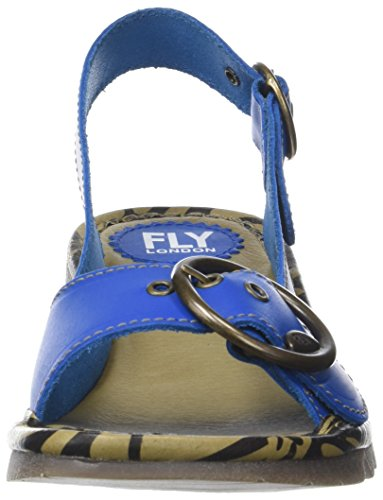 electric Blue Donna Tram723fly Fly Sul Blu Retro Chiusura London Sandali Con Bv7w07zFqH
