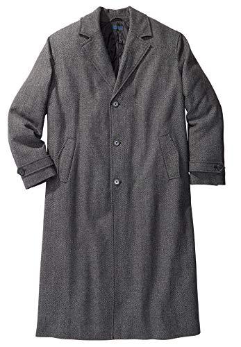 KingSize Men's Big & Tall Wool-Blend Long Overcoat Coat
