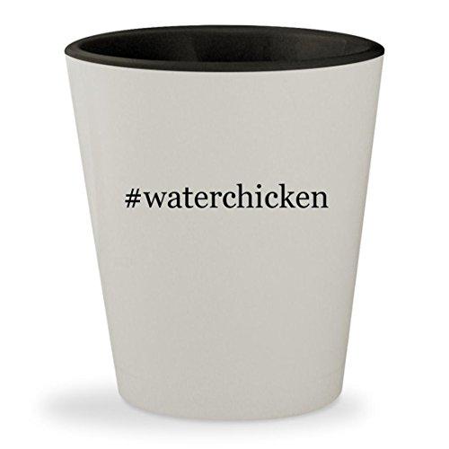 #waterchicken - Hashtag White Outer & Black Inner Ceramic 1.5oz Shot Glass